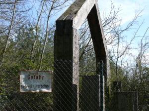Der frühere Eingang zum Abenteuerspielplatz.