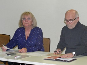 Die scheidende Ortsvorsteherin Carola Biehal und ihr Stellvertreter Robert Lenhardt leiteten das Treffen.