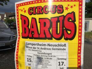 Werbeplakate in Neuschloß.