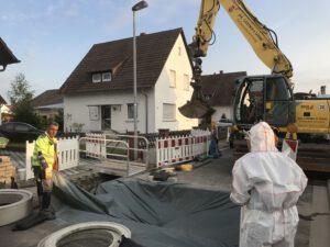 Bauarbeiten im Lindenweg.