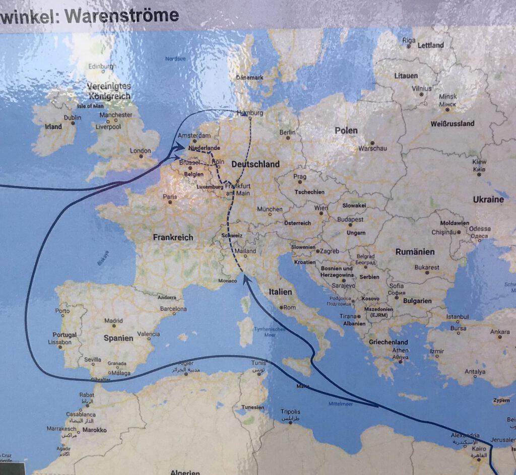 Güterverkehr durch das Rheintal. (Quelle: Bila)