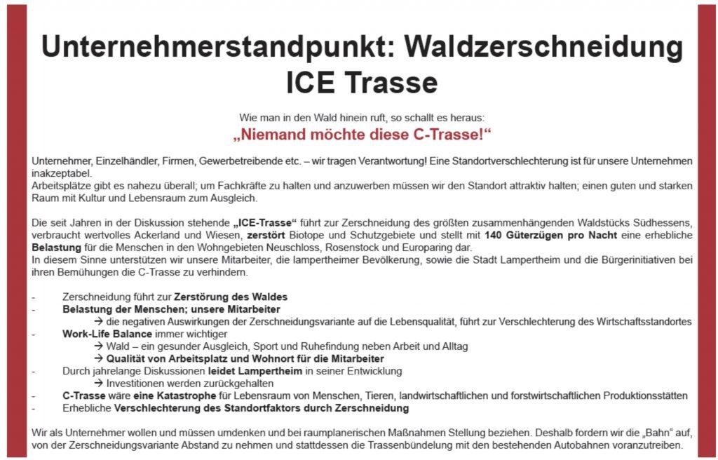 Erklärung Lampertheimer Unternehmer/innen.