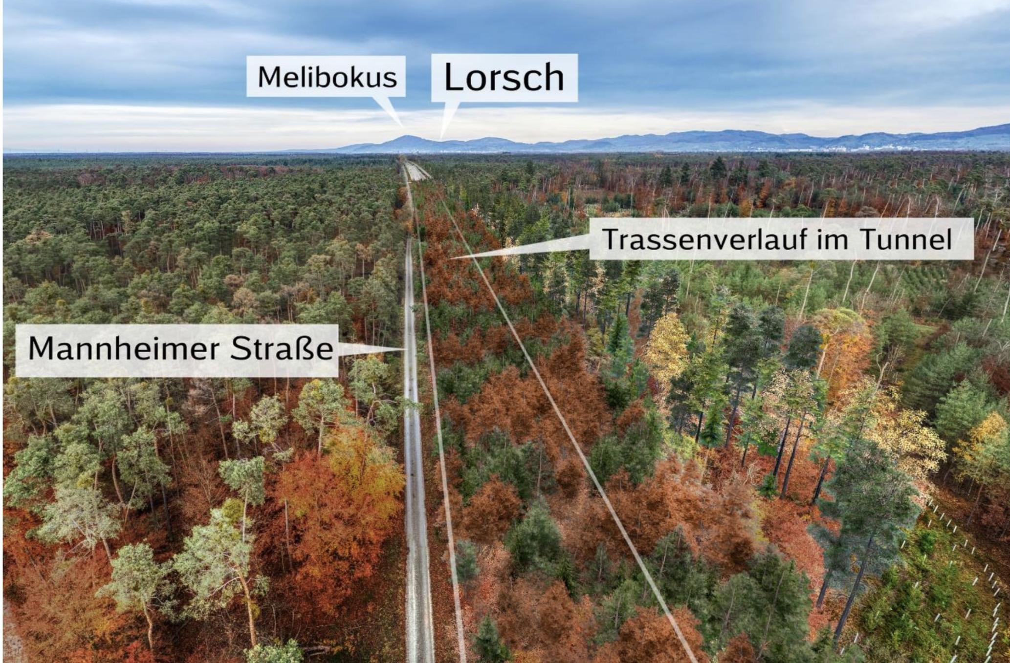 Visualisierung der Bahn.