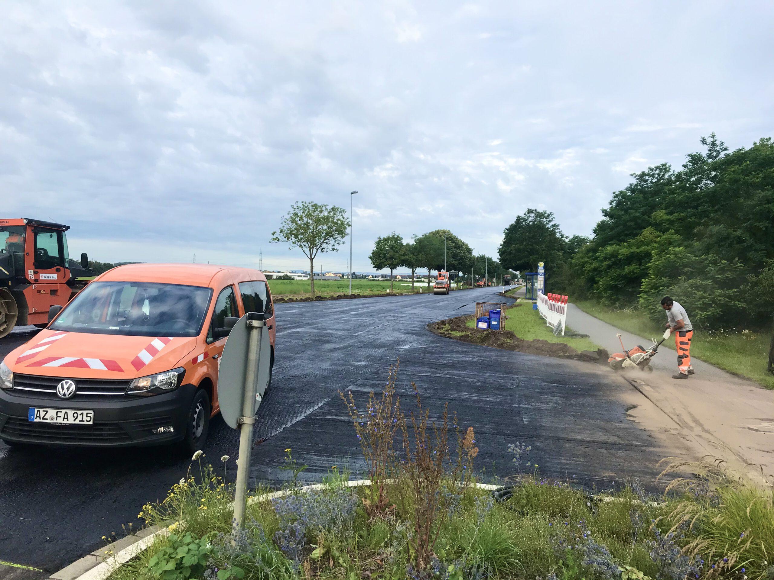 Sanierung der L3110 zwischen Lampertheim und Neuschloß: Die Arbeiten im ersten Abschnitt kommen voran.